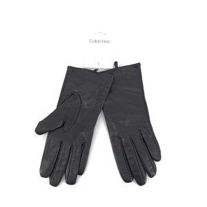 Calvin Klein Leather Cold Weather Lined Gloves